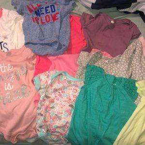 Baby Girls onesie bundle (12 onesies/bodysuits)